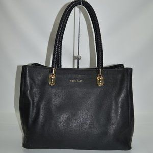 Cole Haan Large Benson Tote Black Soft Leather